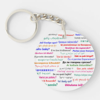 Do you speak ...? in many languages keychain