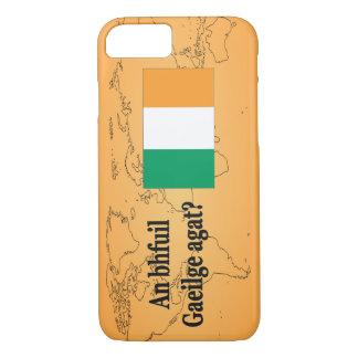 Do you speak Irish? in Irish. Flag bf iPhone 8/7 Case