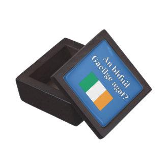 Do you speak Irish? in Irish. Flag Premium Trinket Boxes