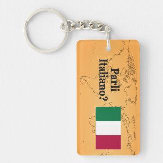Do you speak Italian? in Italian. Flag bf Acrylic Keychains