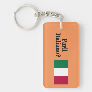 Do you speak Italian? in Italian. Flag bf Acrylic Key Chains