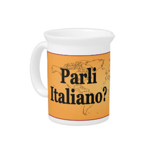 Do you speak Italian? in Italian. Flag bf Beverage Pitcher