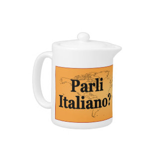 Do you speak Italian? in Italian. Flag bf Teapot