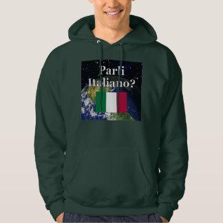 Do you speak Italian? in Italian. Flag & Earth Hoodie