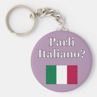 Do you speak Italian? in Italian. Flag Key Chains