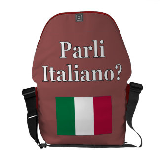 Do you speak Italian? in Italian. Flag Messenger Bag