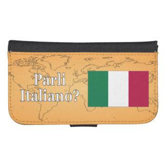 Do you speak Italian? in Italian. Flag wf Phone Wallet Cases