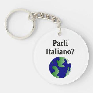 Do you speak Italian? in Italian. With globe Keychains