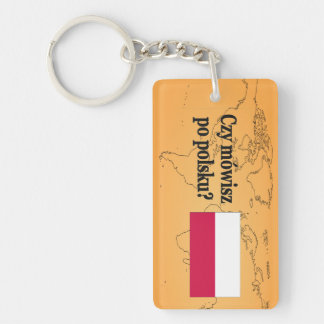 Do you speak Polish? in Polish. Flag bf Acrylic Key Chains