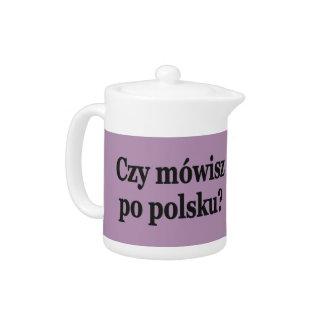 Do you speak Polish? in Polish. Flag bf Teapot