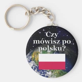 Do you speak Polish? in Polish. Flag & Earth Keychains