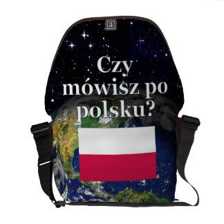 Do you speak Polish? in Polish. Flag & Earth Messenger Bag