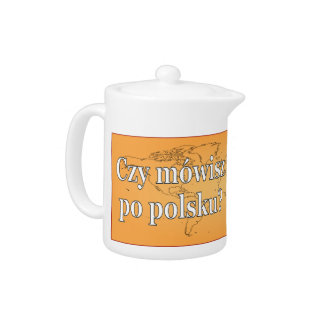 Do you speak Polish? in Polish. Flag wf Teapot
