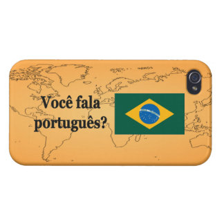 Do you speak Portuguese? in Portuguese. Flag bf iPhone 4 Case