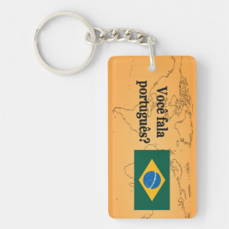 Do you speak Portuguese? in Portuguese. Flag bf Keychain