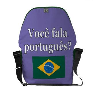 Do you speak Portuguese? in Portuguese. Flag Messenger Bag