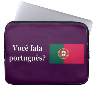 Do you speak Portuguese? in Portuguese. Flag wf Laptop Sleeve
