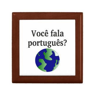 Do you speak Portuguese? in Portuguese. With globe Gift Box