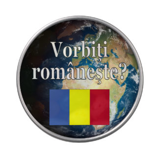 Do you speak Romanian? in Romanian. Flag & Earth Jelly Belly Tins