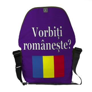 Do you speak Romanian? in Romanian. Flag Messenger Bags