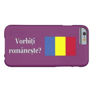 Do you speak Romanian? in Romanian. Flag wf iPhone 6 Case