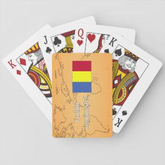 Do you speak Romanian? in Romanian. Flag wf Poker Deck