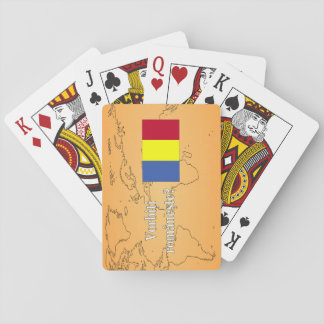 Do you speak Romanian? in Romanian. Flag wf Playing Cards