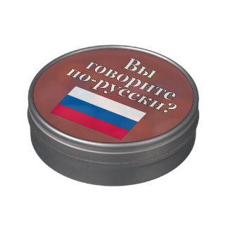 Do you speak Russian? in Russian. Flag Jelly Belly Tins