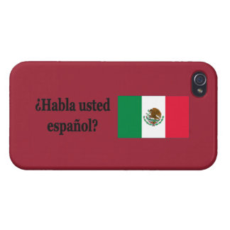 Do you speak Spanish? in Spanish. Flag bf iPhone 4 Cover