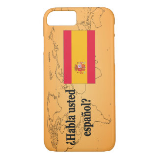 Do you speak Spanish? in Spanish. Flag bf iPhone 8/7 Case
