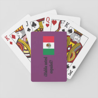 Do you speak Spanish? in Spanish. Flag bf Playing Cards
