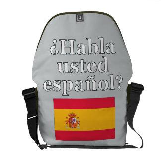 Do you speak Spanish? in Spanish. Flag Courier Bag