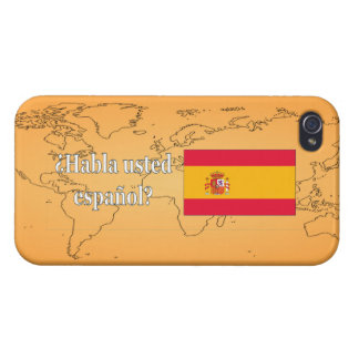 Do you speak Spanish? in Spanish. Flag wf Cover For iPhone 4