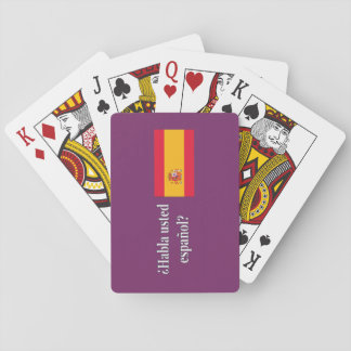 Do you speak Spanish? in Spanish. Flag wf Playing Cards