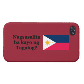 Do you speak Tagalog? in Tagalog. Flag bf iPhone 4/4S Cases