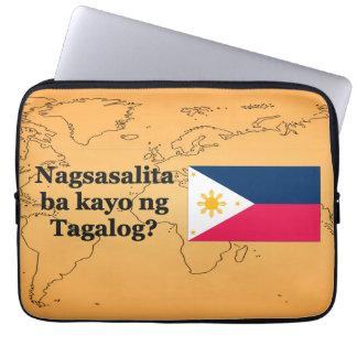 Do you speak Tagalog? in Tagalog. Flag bf Laptop Sleeve