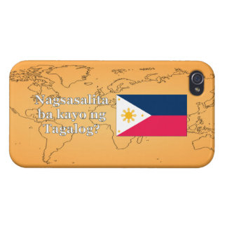 Do you speak Tagalog? in Tagalog. Flag wf iPhone 4 Cases