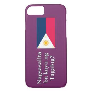 Do you speak Tagalog? in Tagalog. Flag wf iPhone 7 Case