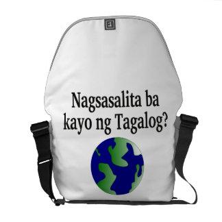 Do you speak Tagalog? in Tagalog.  With globe Messenger Bag