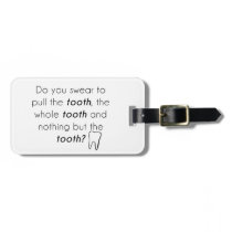 Do you swear? luggage tag