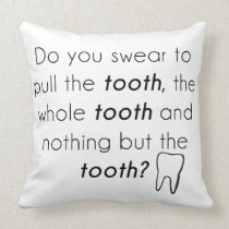 Do you swear? throw pillow