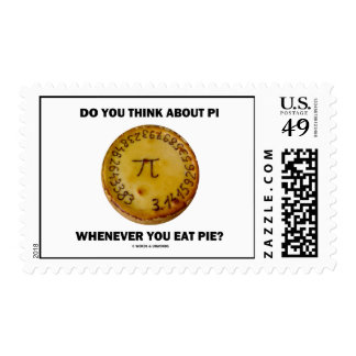 Do You Think About Pi Whenever You Eat Pie? Stamp
