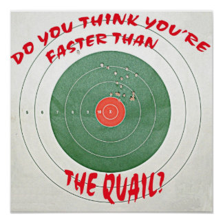 Do you think you're faster than the quail? poster