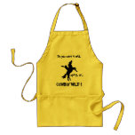 Do you want it mild, spicy, or COWBOY WILD! Apron