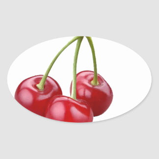 Do you want my cherry? oval sticker