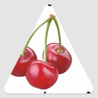 Do you want my cherry? triangle sticker