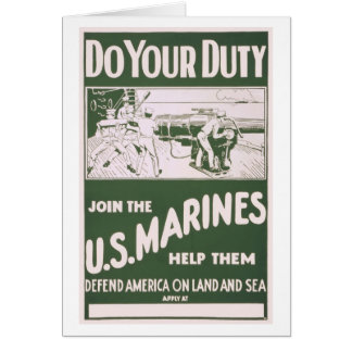 Do Your Duty - Join the U.S. Marines Card