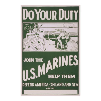 Do Your Duty - Join the U.S. Marines Poster