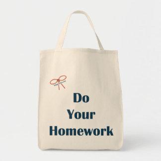 Do Your Homework Reminders Canvas Bag
