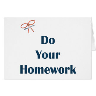 Do Your Homework Reminders Card